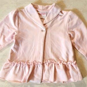 Mango light pink poplin style jacket